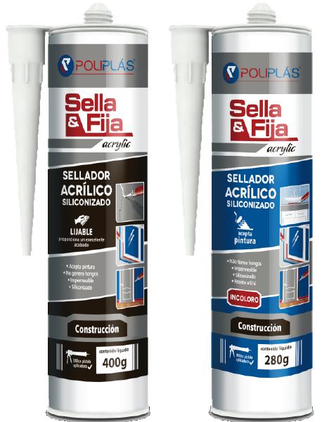 Adhesivos acrilicos Sella y fija